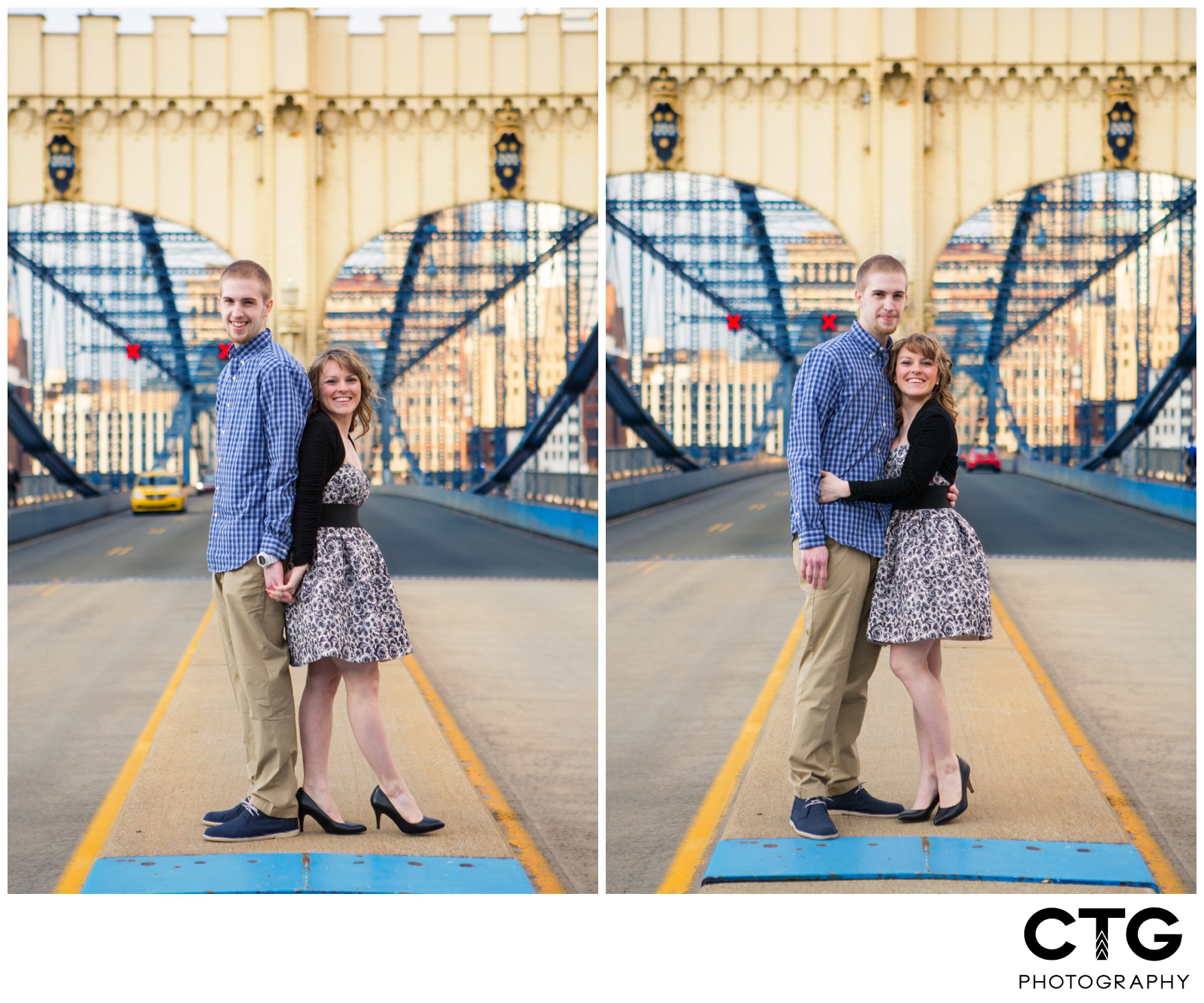 Station Square Engagement Photos Pittsburgh Engagement