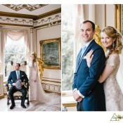 downton abby themed wedding couple