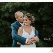 bride and groom at southpointe golf club