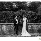 bride and groom at Mellon Park Pgh